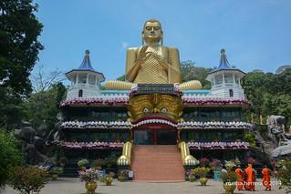 Sri Lanka. Dambulla. Golden Temple. Rangiri Dambulla Uyanwatta Rajamaha Viharaya.