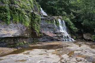 Close up to part of Katoomba Falls