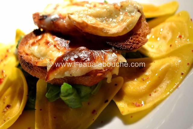 Salade aux Ravioli & Cabécou Gratiné © Ana Luthi Tous droits réservés 01 Gratiné © Ana Luthi Tous droits réservés 22