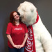 Rusty Blazenhoff and the Coca-Cola polar bear, Las Vegas, Nevada by Rusty Blazenhoff