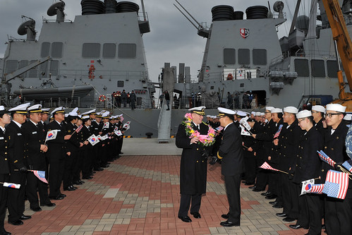 Mustin, John S. McCain Sailors Strengthen Partnerships in Korea Through Bilateral Training and Port Visit