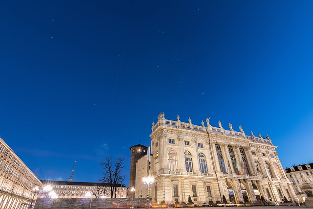 The International Space station over Palazzo Madama, Torino, Italy.