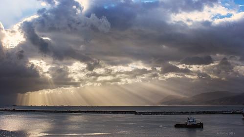 morning light sea sun montagne sunrise landscape algeria boat northafrica nuage paysage montain algérie béjaia