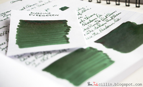 Diamine Evergreen shading