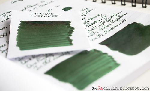 Diamine Evergreen shading