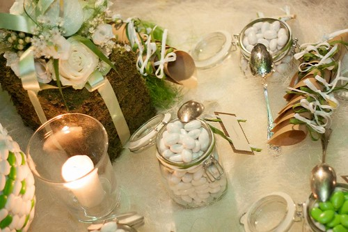 Confettata,wedding, coniriso, tableau, piante aromatiche