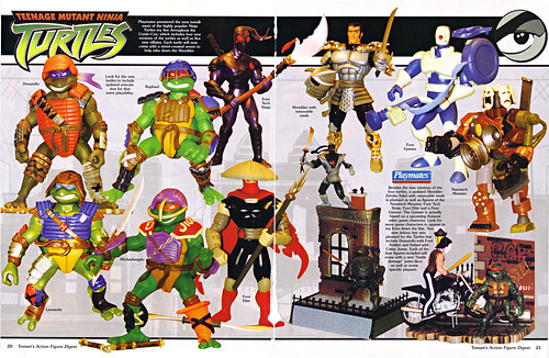 Tomart's Action Figure Digest #xx :: pg.20, 21 SDCC '03 TMNT 2k3, Wave 2 peek (( xx 2003 ))