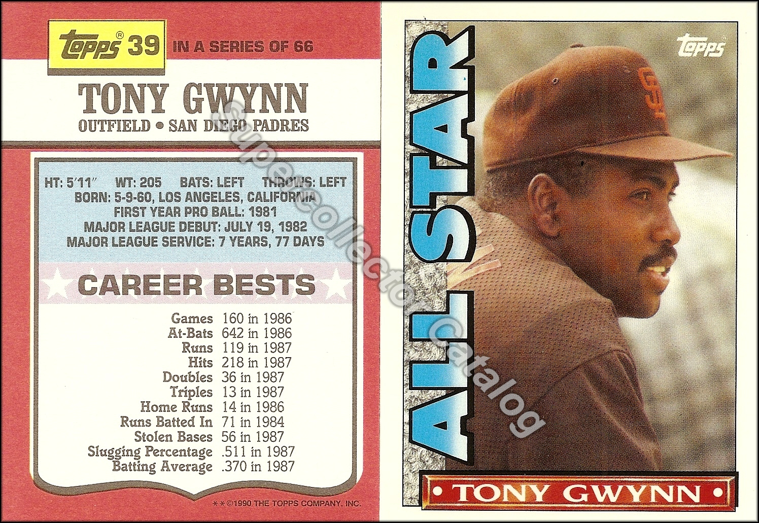 1990 Topps T.V. All-Star