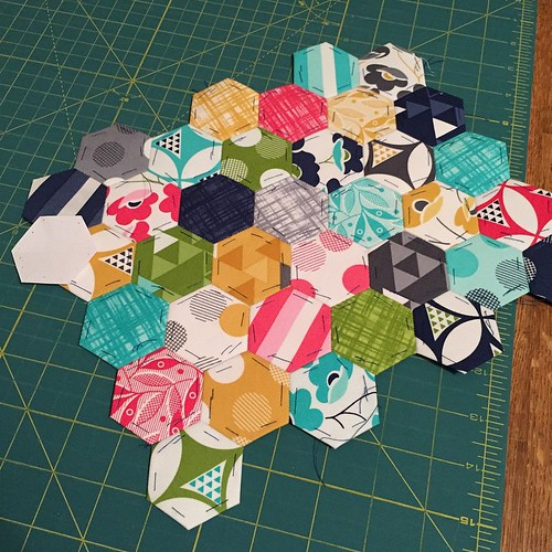 62:365 Finally getting ready to quilt the mug rug for my #starbucksmugrugswap partner.