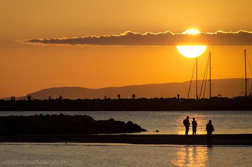 foto di tramonti sul mare