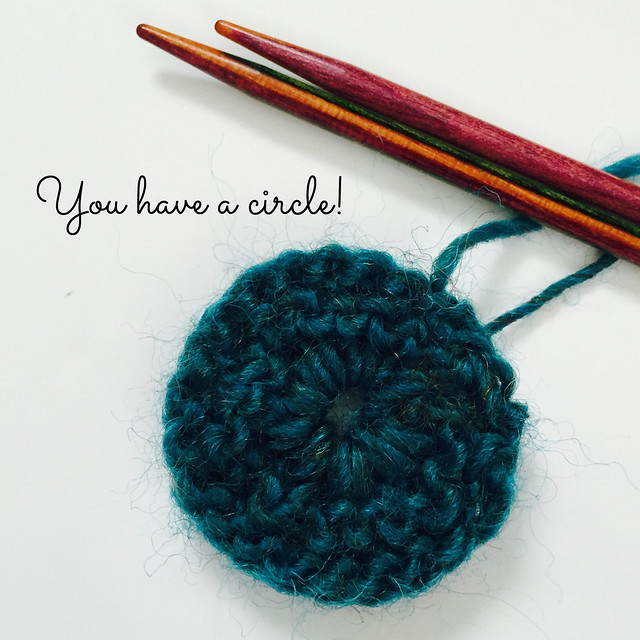 Knitted Circle tutorial