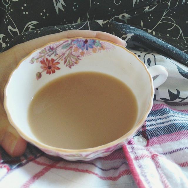 Good morning! #teatime #vscocam