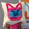 Meow Meow pillow finish.  Adults have so much to relearn from the creative process of children.  #embraceyourself