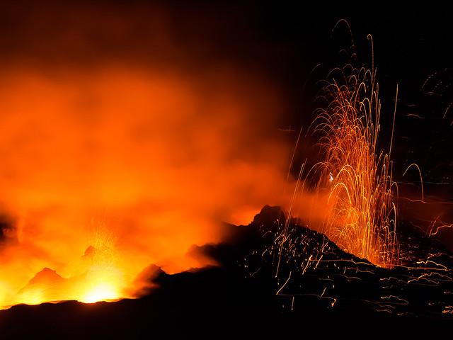 Stromboli on Fire