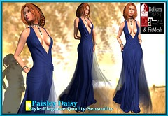 Paisley Daisy - Captivating Enigma Gown Blue