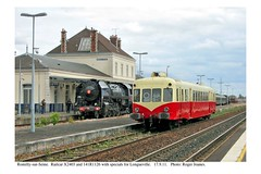 Romilly-sur-Seine. 141 R 1126 and railcar X2403 for Longueville. 17.9.11