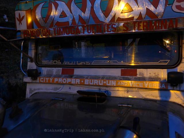 Buru-un bout jeepneys. Mimbalot Falls in Iligan City, Philippines