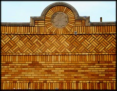 Decorative Brickwork, Fenkell Road at Cruse Street--Detroit MI