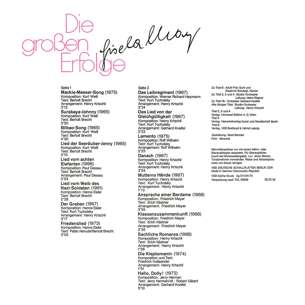 Gisela May - Die Großen Erfolge
