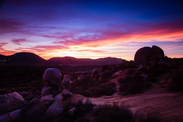 Santee Boulder Sunset 120814 © Michael Klayman 2014- 02
