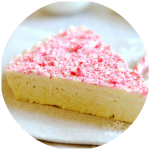Candy Cane Crunch Shortbread Cookie Wedges