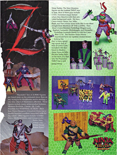 LEE'S TOY REVIEW #xx ::  pg.x TOY FAIR '98 - PLAYMATES'S 'ZORRO' & NT: THE NEXT MUTATION. Turtleflage & SHADOW NINJAS  (( xx 1998 )) by tOkKa
