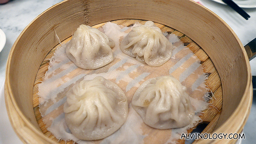 Little Juicy Steamed Meat Dumplings (小笼汤包) ($5++ for 4 pieces and $8.80++ for 8 pieces)