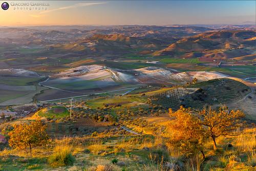 italy landscape italia tramonto centro sicily sicilia paesaggio colline caltanissetta mazzarino