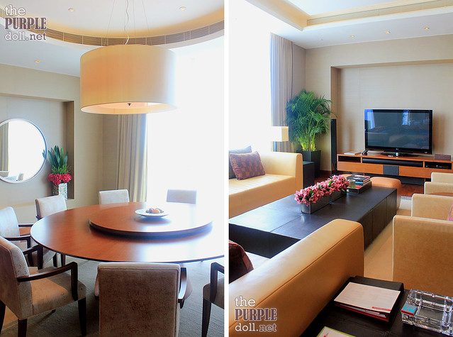 Grand Hyatt Macau Presidential Suite Living and Dining Area