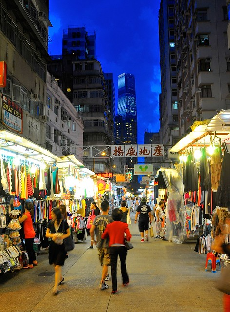 Night market looking south