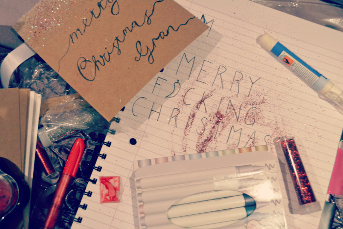 christmas card crafting scottish blogger