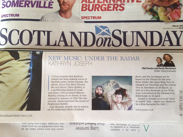 Olaf Furniss and Derick Mackinnon Scotland On Sunday, Spectrum Magazine 1 March 2015