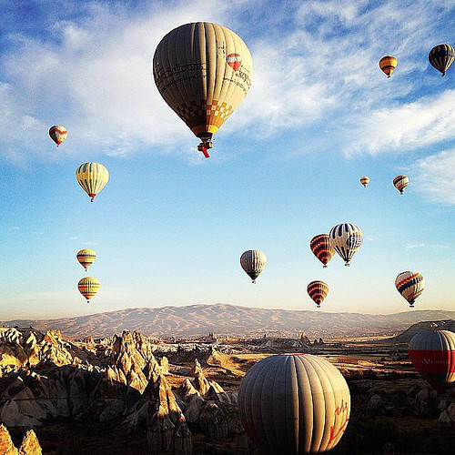 #Travel Go on a Hot-Air Balloon Ride in Turkey...