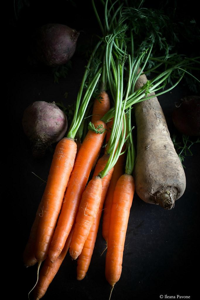 vellutata di carote e pastinaca allo zenzero