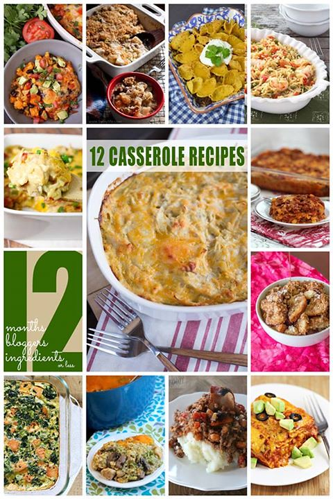 12 bloggers march 2015 - casseroles