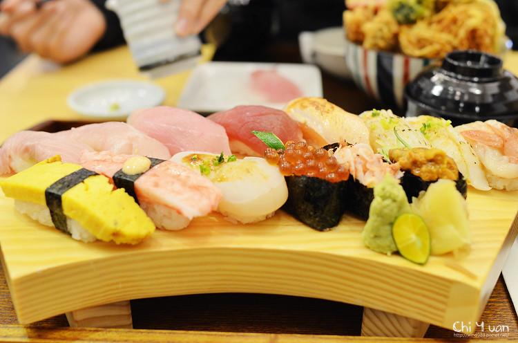 [台北]和歌壽司船艙景致,享食鮮海握壽司,澎湃天丼(台北車站商圈)─窩客島試吃