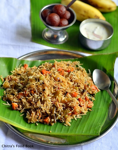 Kerala veg biryani recipe malabar biryani sunday lunch recipes 5 vegetable layered biryani forumfinder Choice Image