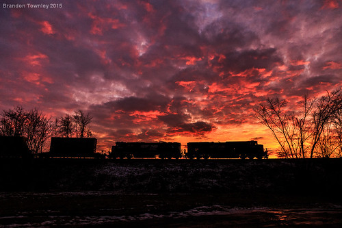 railroad sunset silhouette clouds ns trains norfolksouthern
