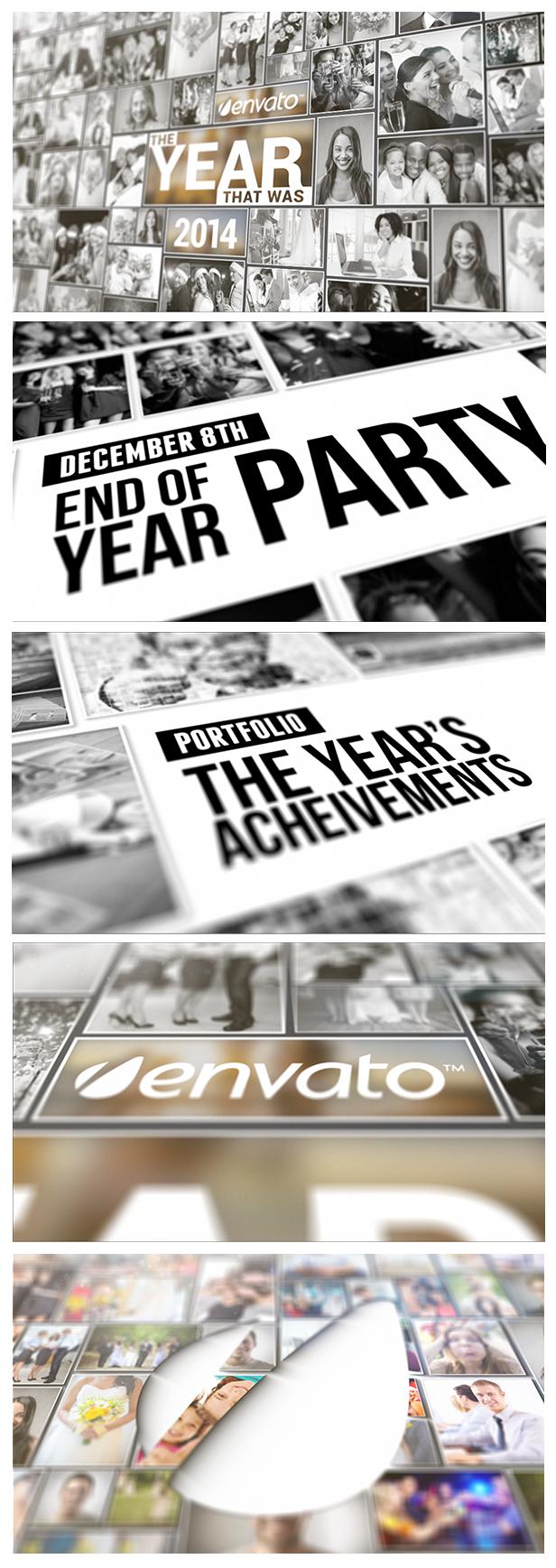 公司企来年度回顾AE模板 VIDEOHIVE YEAR IN REVIEW