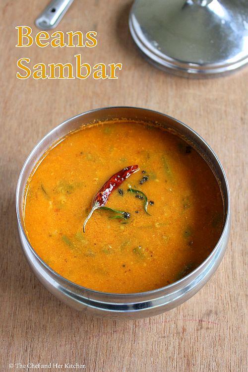 Beans Sambar | Karnataka Style Sambar Recipe using fresh Coconut