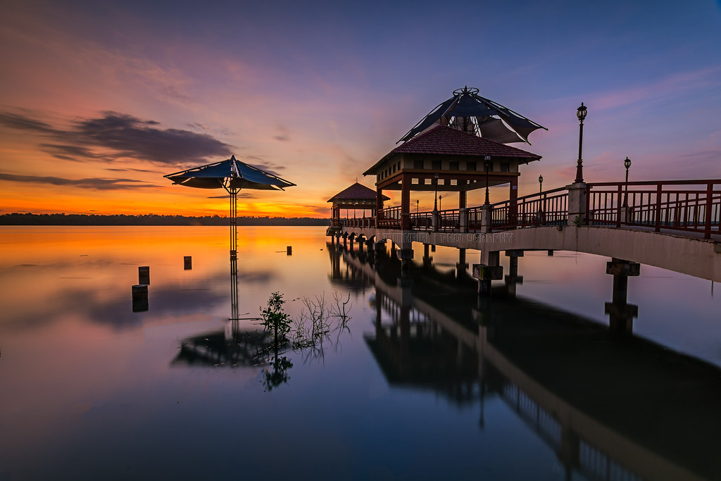 Beautiful Sunrise at Laguna Park, Pulau Indah