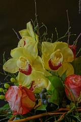 Blumenstrauß mit Rose und Cymbidium