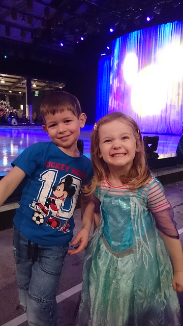 Happy Mother's Day to me! Rink side at Disney on Ice and we've stolen a Princess to join us