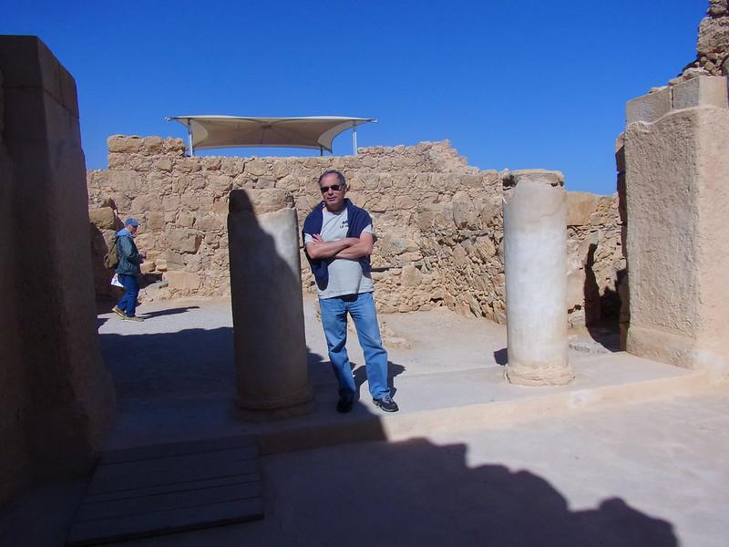 Dad at the entrance to Herod's Palace, Masada