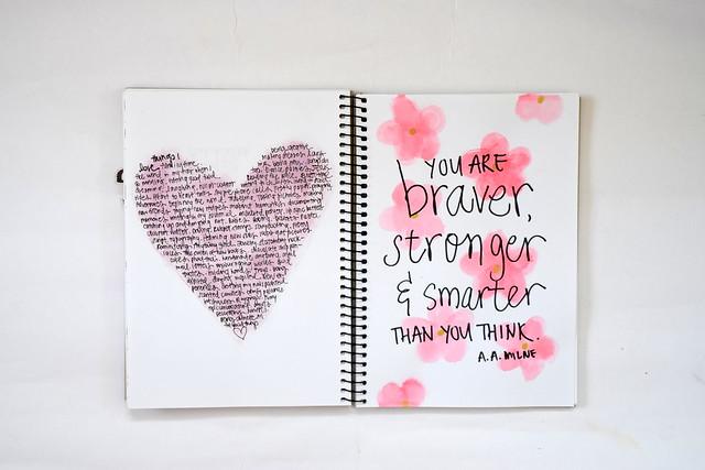 Get Messy art journal   love inspired