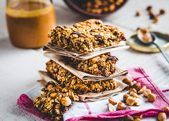 protein bars granola with seeds, peanut butter and…