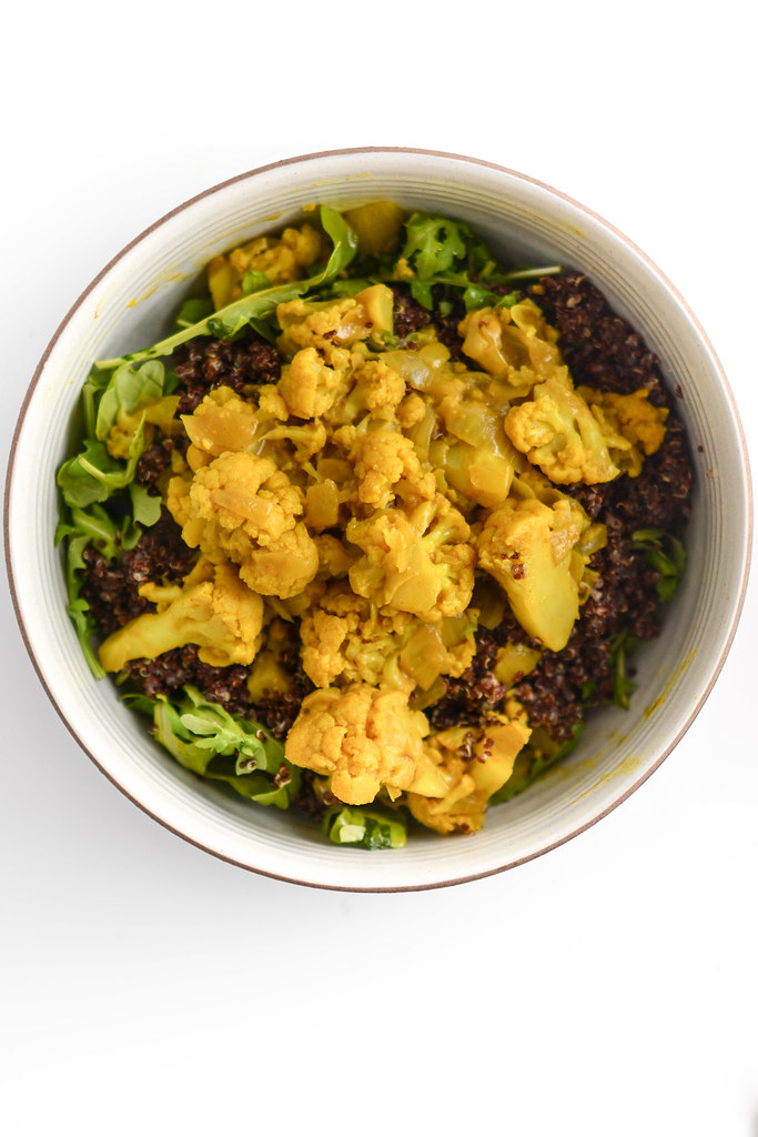 curried cauliflower, quinoa, and arugula salad | things i made today