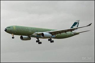 A330-300 Cathay Pacific  B-LBK(F-WWKN) - sn 1621   /  5007