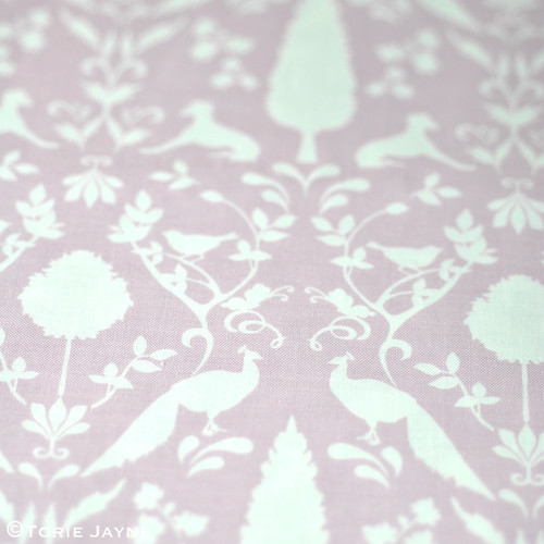 Peacock Hill Fabric in Pastel Violet 1