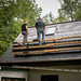 Tyler Consulting with Dan the Roofer on Slate Roof